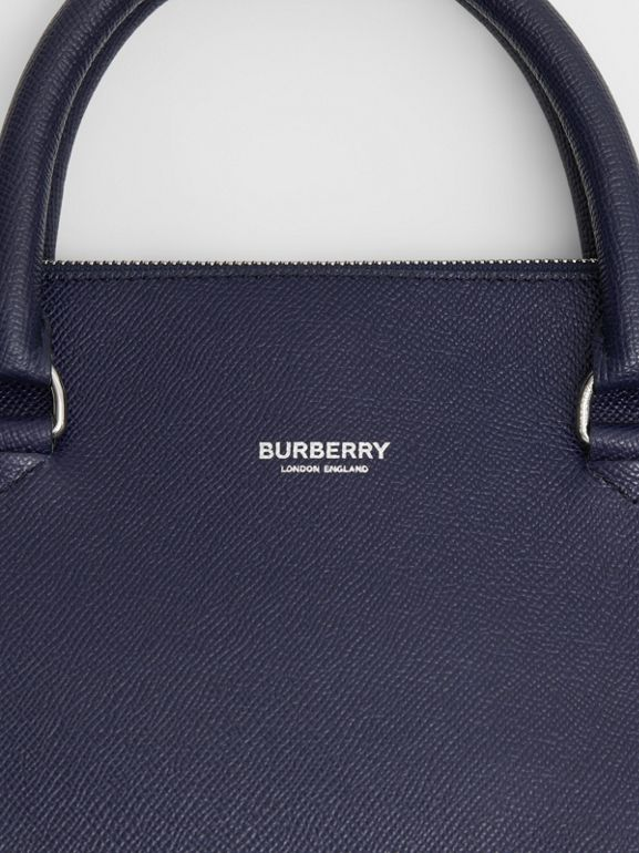 Triple Stud Grainy Leather Briefcase in Regency Blue - Men | Burberry - cell image 1