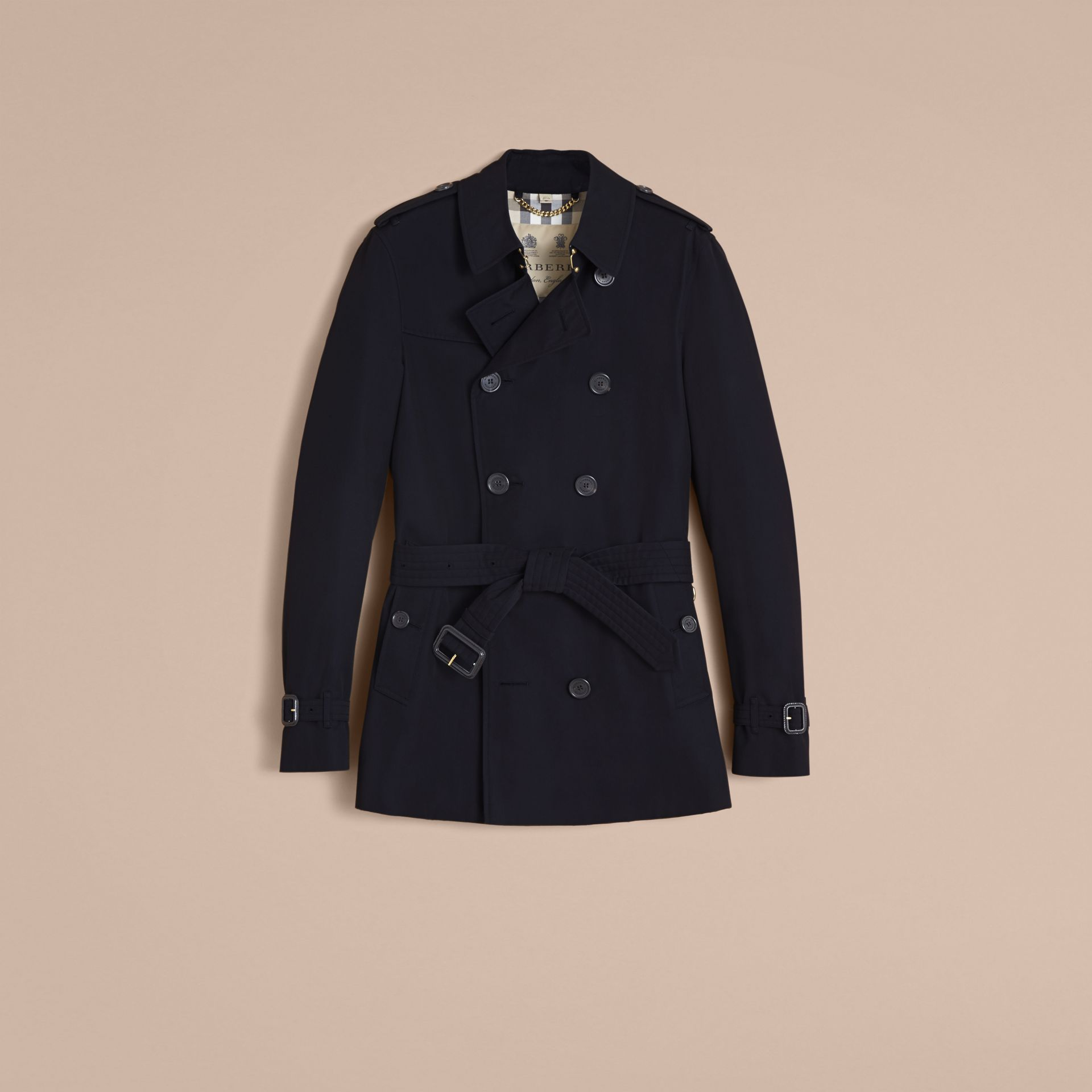 The Chelsea – Short Heritage Trench Coat in Navy - gallery image 4