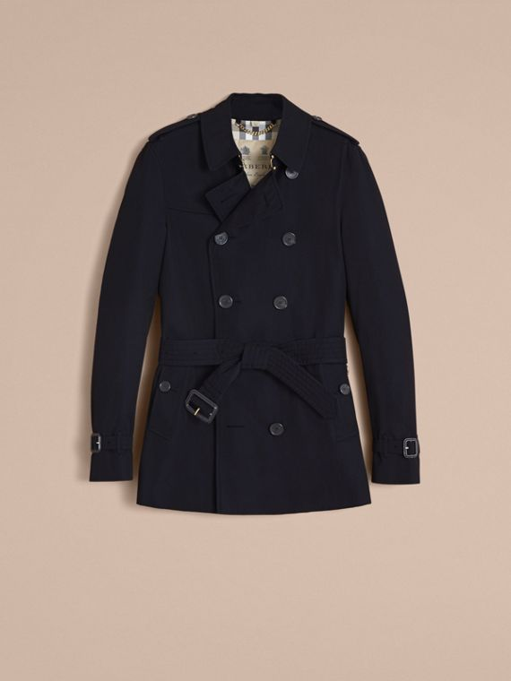 The Chelsea – Short Heritage Trench Coat in Navy - cell image 3