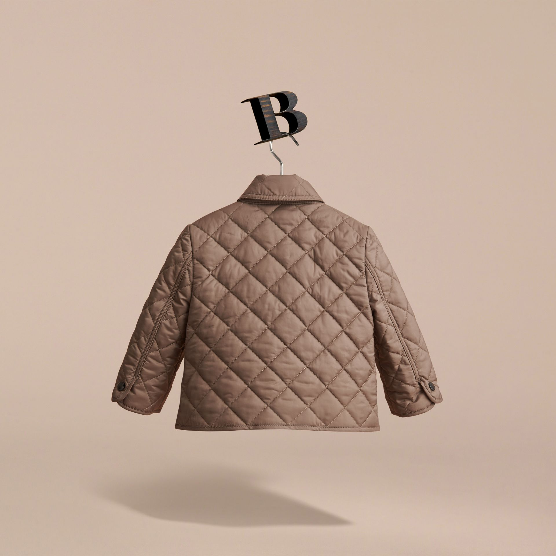 Lightweight Quilted Jacket in Dark Mushroom | Burberry Singapore - gallery image 4