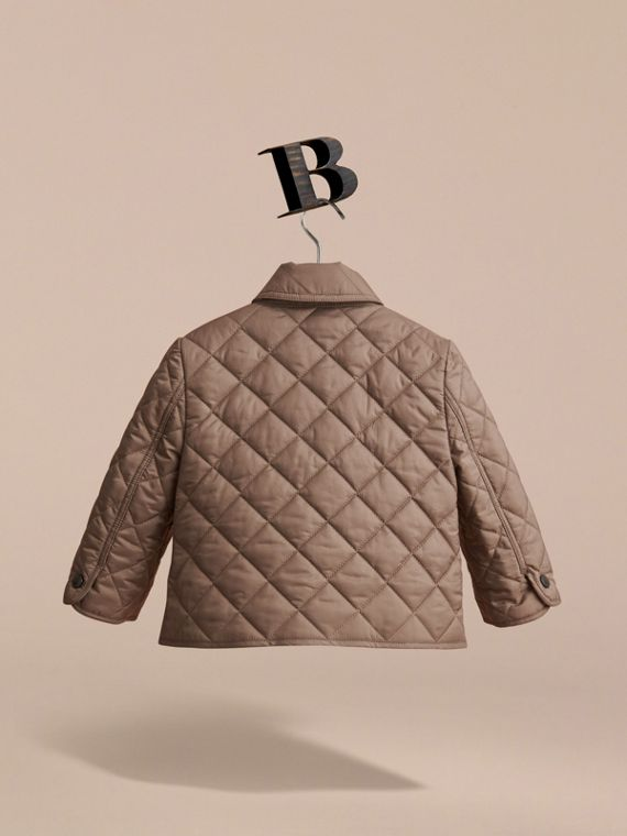 Lightweight Quilted Jacket in Dark Mushroom | Burberry Singapore - cell image 3
