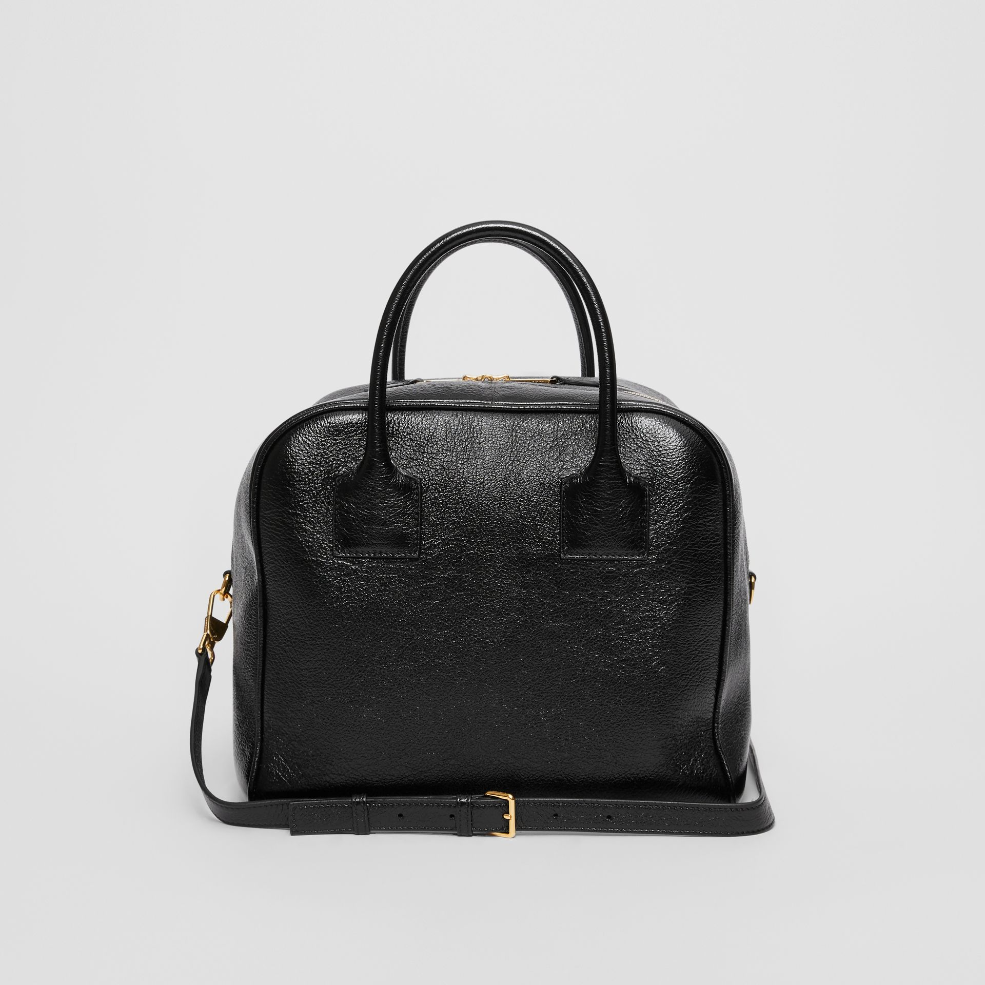 Medium Lambskin Cube Bag in Black - Women | Burberry Canada - gallery image 7