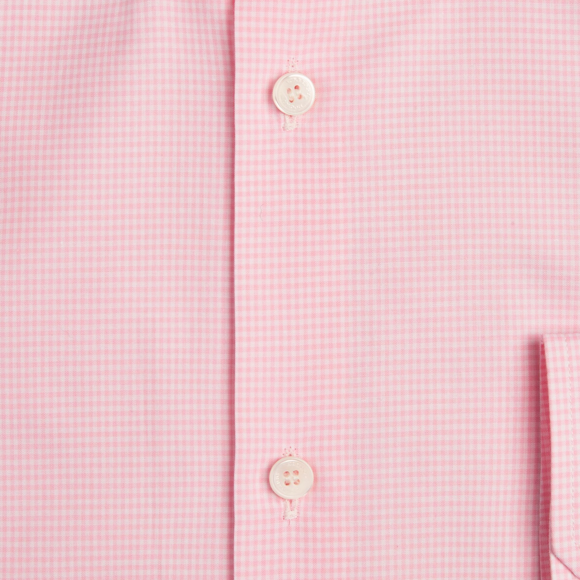 Modern Fit Button-down Collar Gingham Cotton Shirt in City Pink - gallery image 2