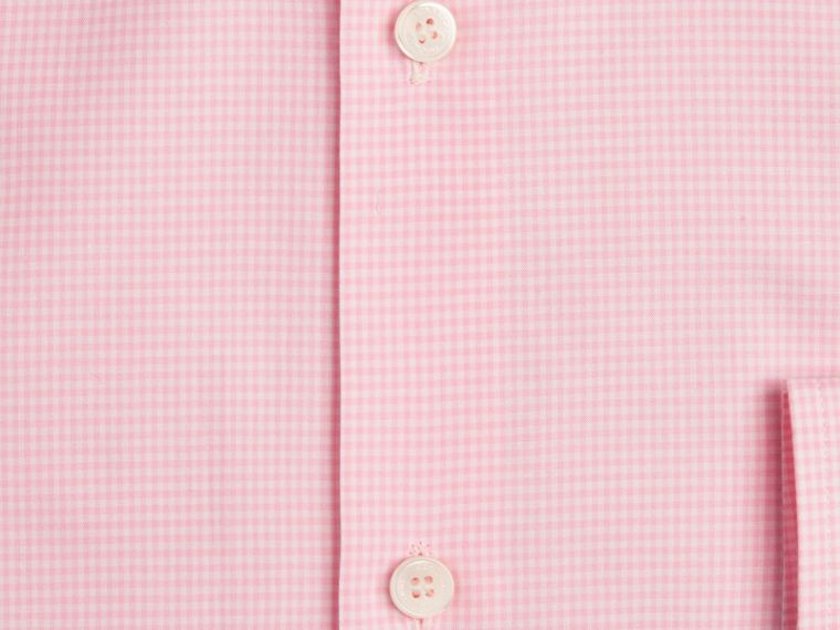 Modern Fit Button-down Collar Gingham Cotton Shirt in City Pink - cell image 1