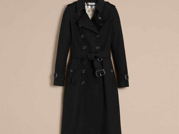 Black The Chelsea – Extra-long Heritage Trench Coat Black - cell image 4
