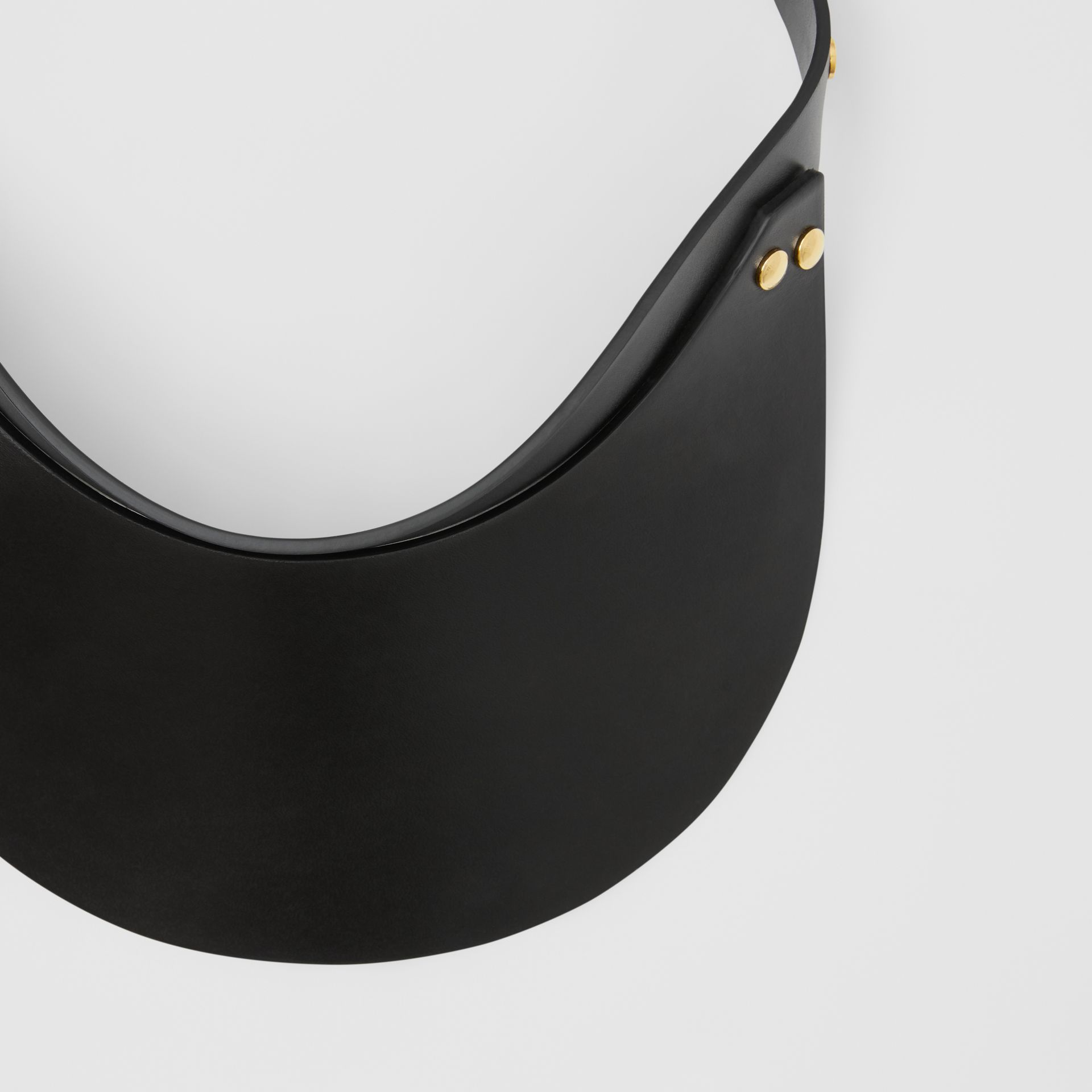 Studded Leather Visor in Black | Burberry - gallery image 1