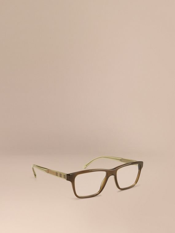Check Detail Rectangular Optical Frames Olive