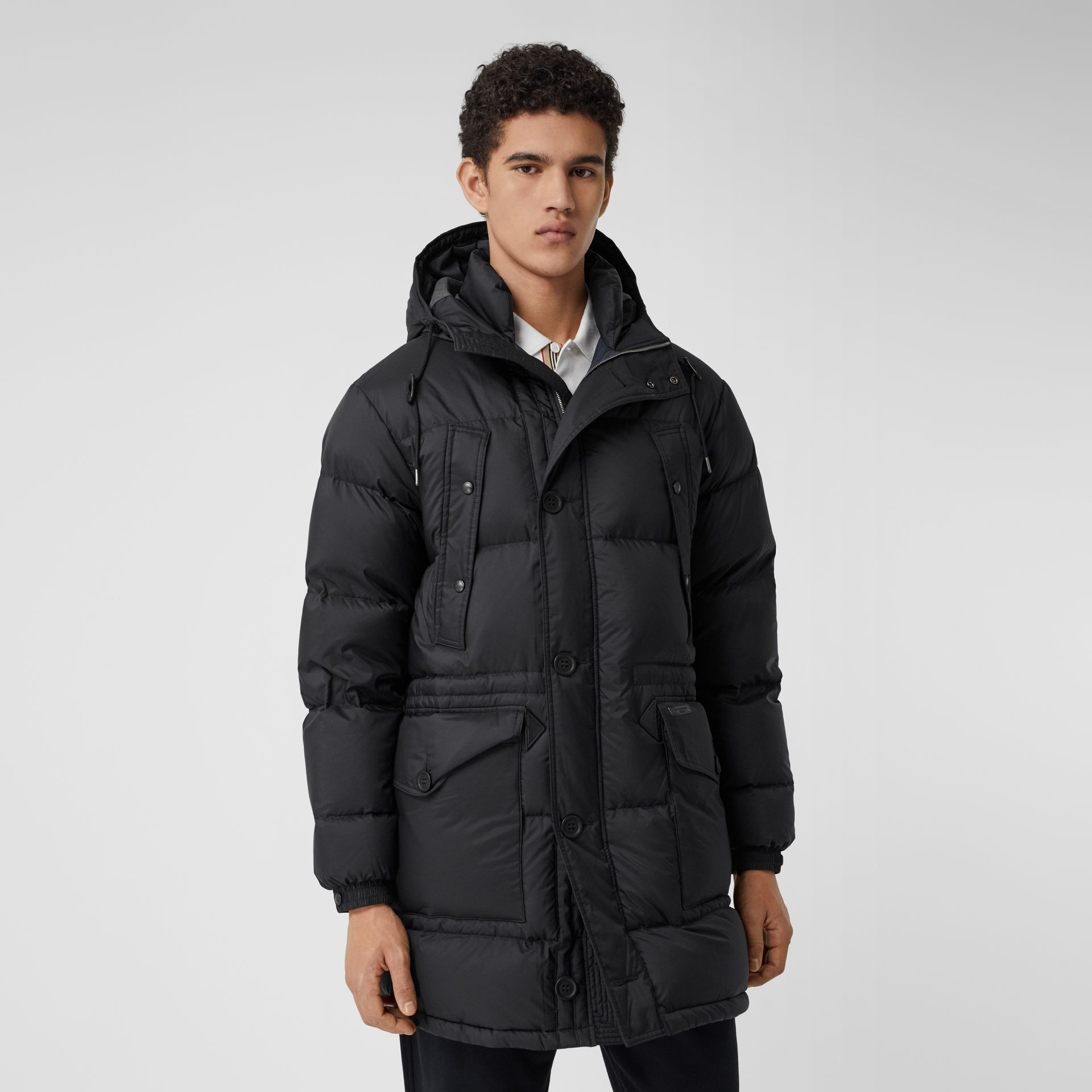 Hooded Puffer Coat in Black - Men | Burberry - gallery image 5
