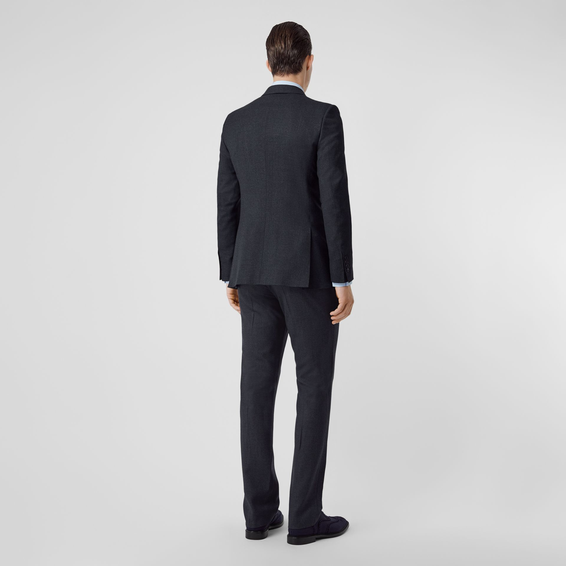 English Fit Sharkskin Wool Suit in Bright Navy Melange - Men | Burberry United Kingdom - gallery image 2
