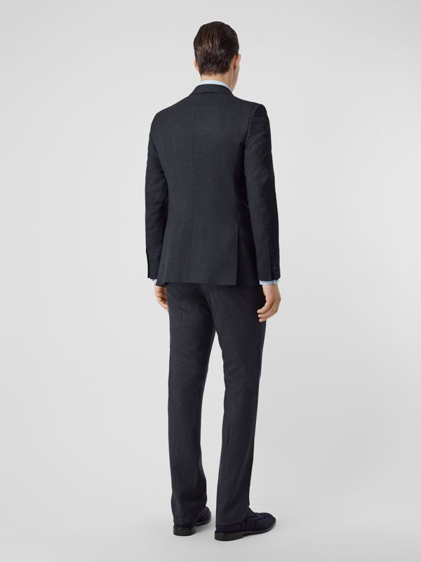 English Fit Sharkskin Wool Suit in Bright Navy Melange - Men | Burberry United Kingdom - cell image 2