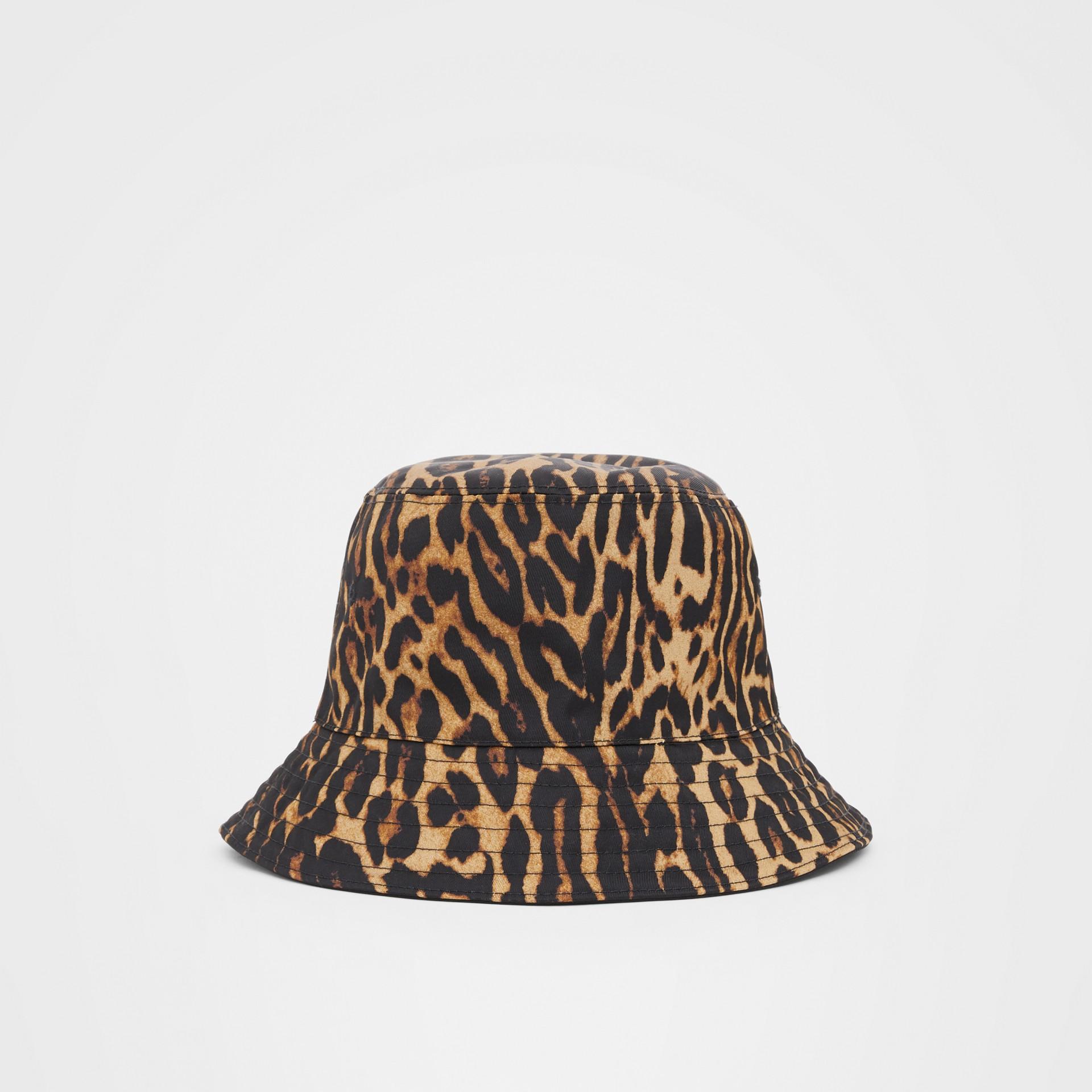 Reversible Logo Appliqué Leopard Print Bucket Hat | Burberry United Kingdom - gallery image 6