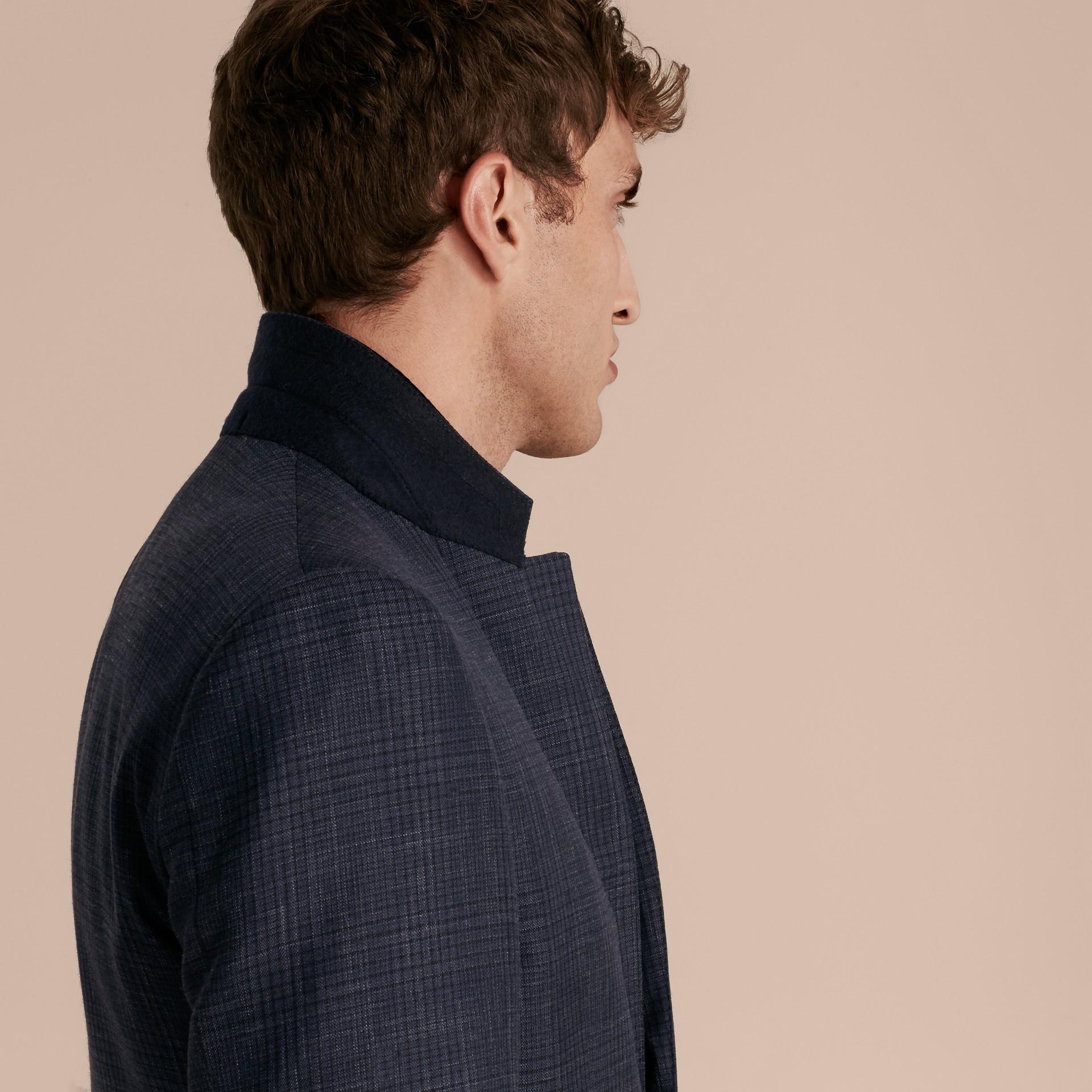 Modern Fit Wool Silk Blend Half-canvas Suit - gallery image 7