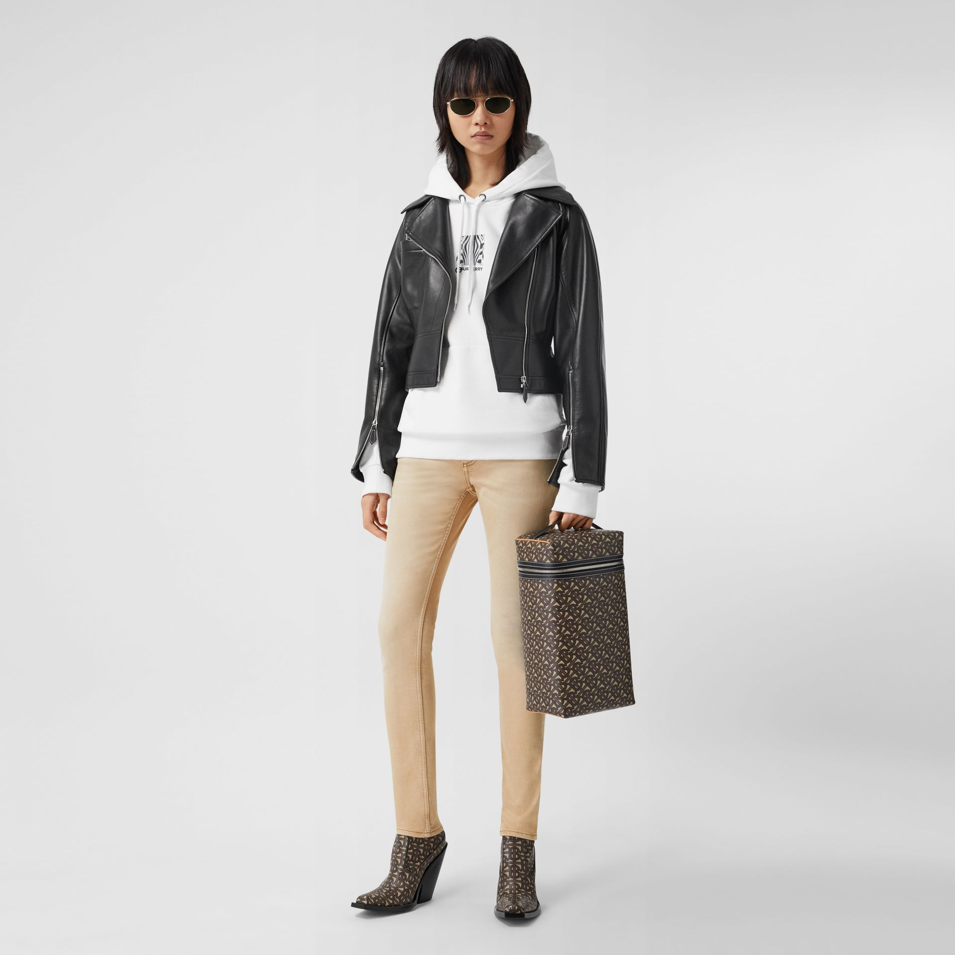 Skinny Fit Washed Japanese Denim Jeans in Honey - Women | Burberry United Kingdom - gallery image 0