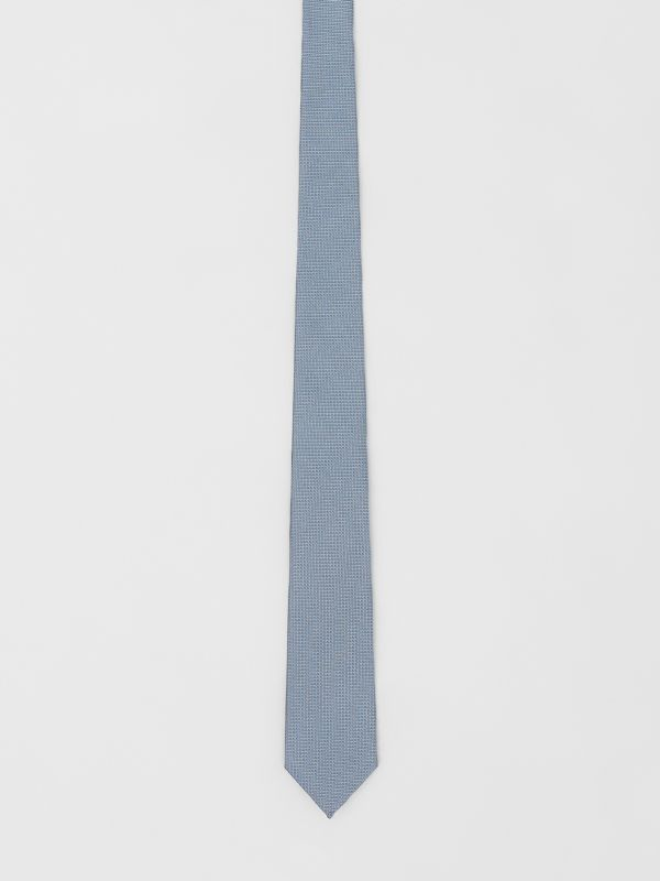 Classic Cut Micro Dot Silk Jacquard Tie in Powder Blue - Men | Burberry - cell image 3