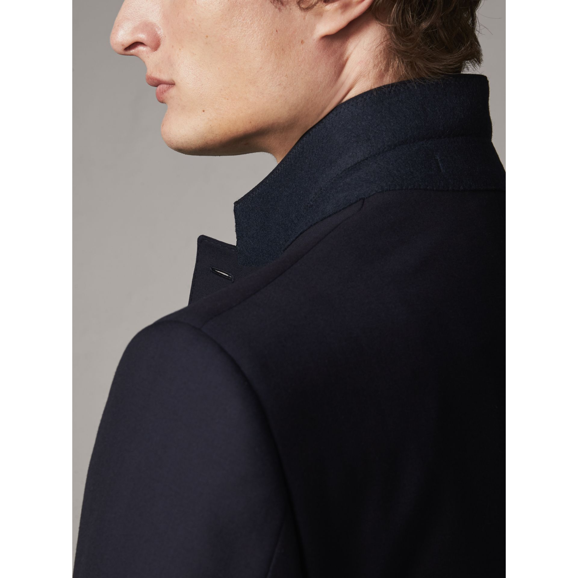 Classic Fit Wool Part-canvas Suit in Navy - Men | Burberry - gallery image 6