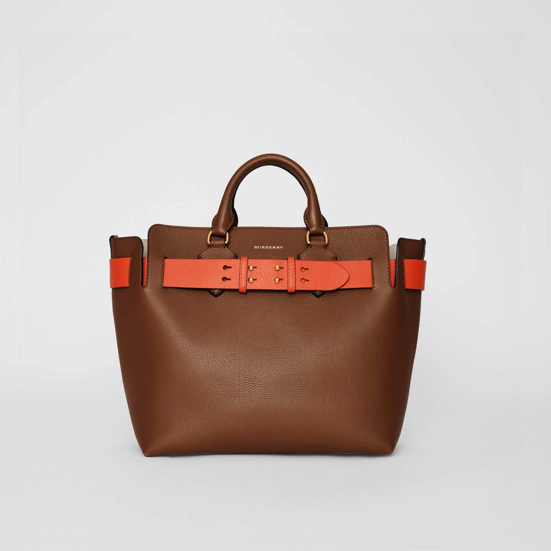 The Medium Leather Belt Bag in Tan - Women | Burberry Australia - gallery image 0