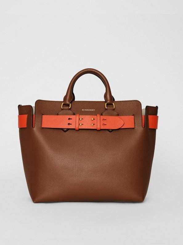 The Medium Leather Belt Bag in Tan
