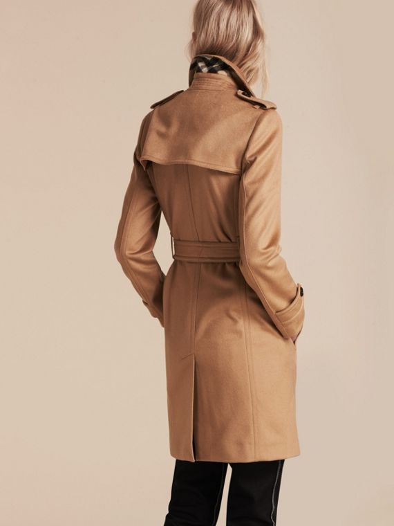 Camel Cashmere Wrap Trench Coat Camel - cell image 2