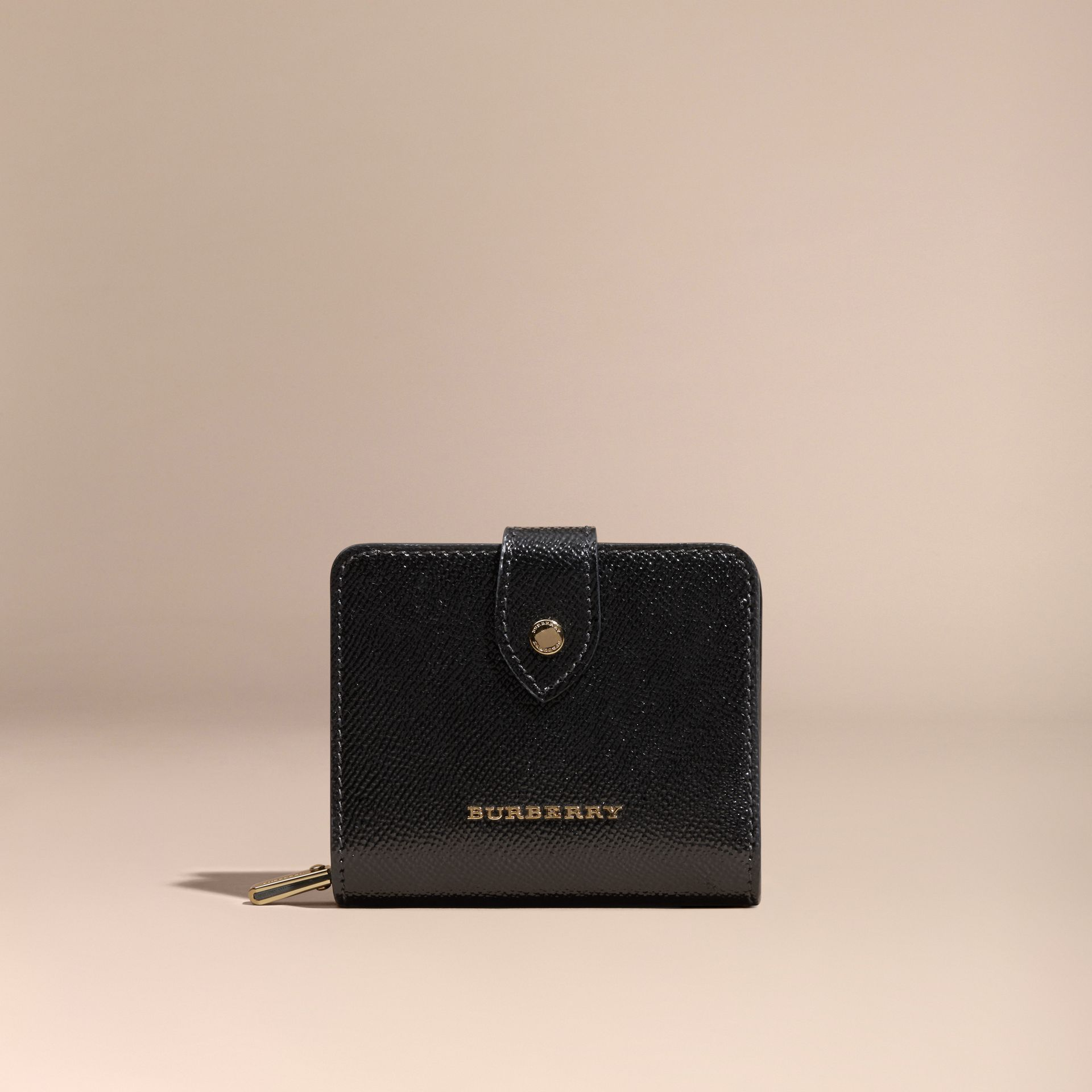 Black Patent London Leather Wallet Black - gallery image 6