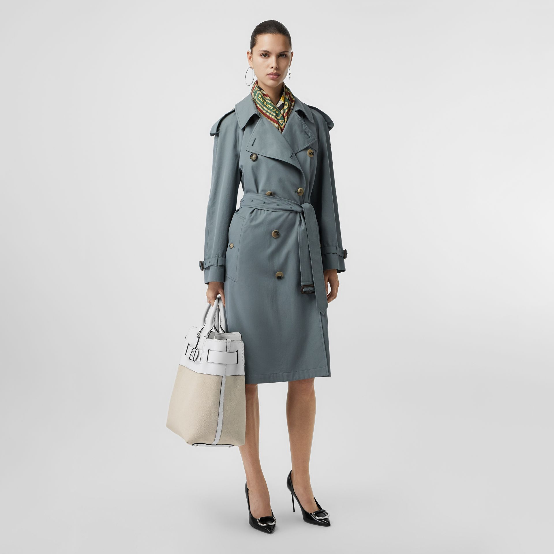 The Large Leather and Canvas Belt Bag in Chalk White   Burberry United States - gallery image 3