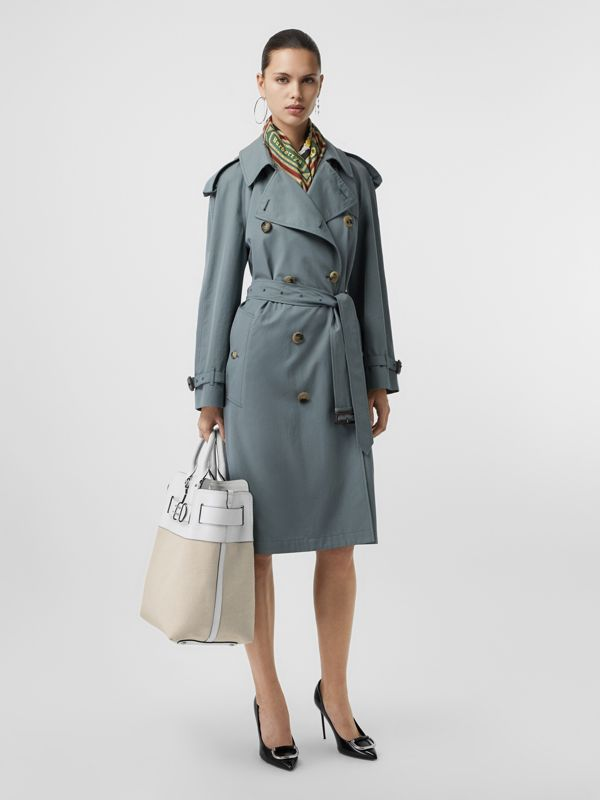 The Large Leather and Canvas Belt Bag in Chalk White   Burberry United States - cell image 3