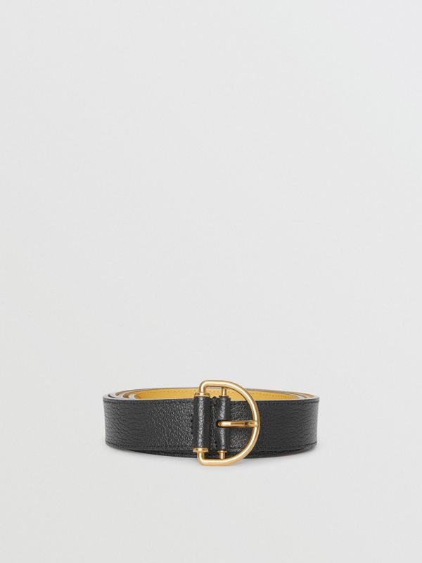 Grainy Leather D-ring Belt in Black/cornflower - Women | Burberry - cell image 3