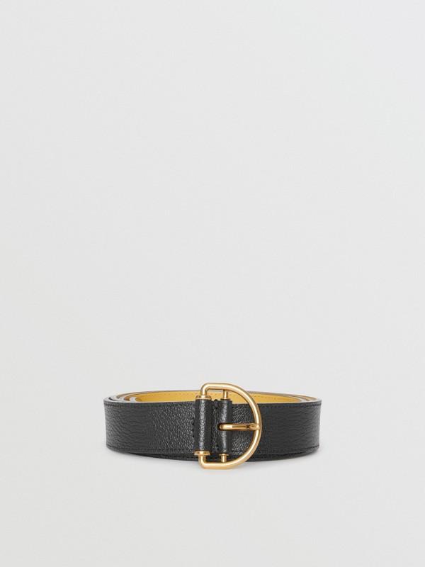 Cintura in pelle a grana con anello a D (Nero/fiordaliso) - Donna | Burberry - cell image 3