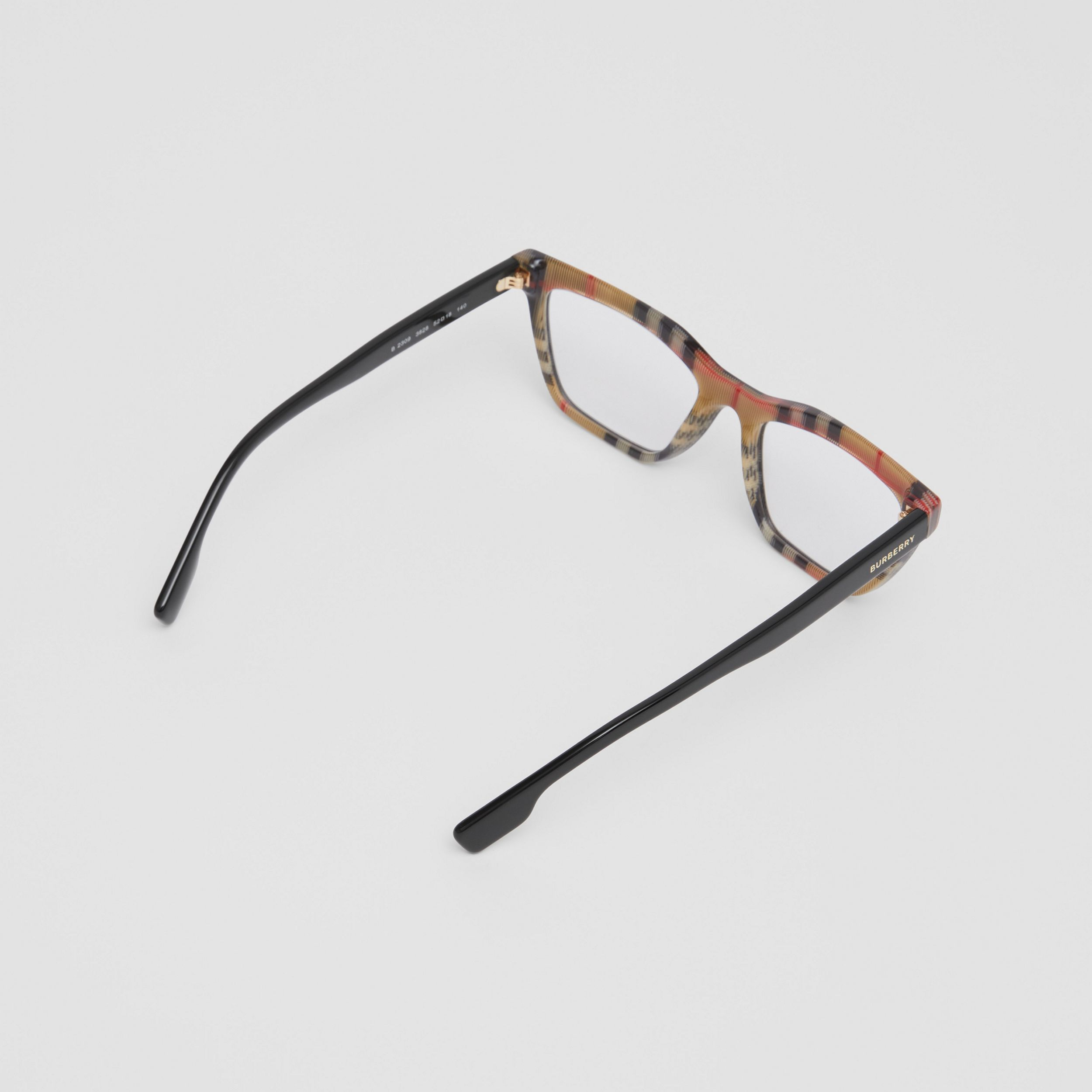 Rectangular Optical Frames in Black/beige - Women | Burberry United States - 4