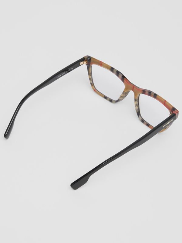 Rectangular Optical Frames in Black/beige - Women | Burberry Canada - cell image 3