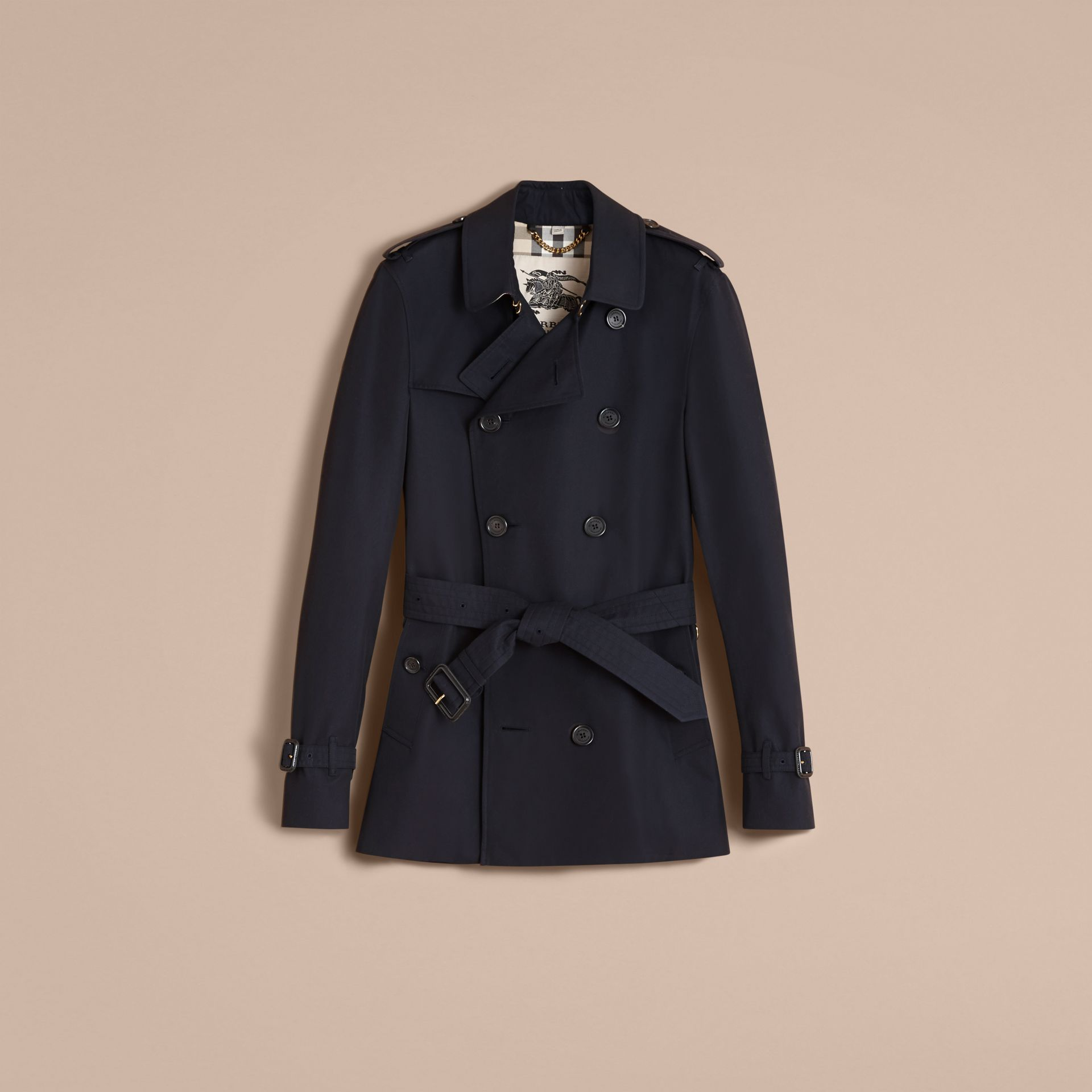 The Sandringham – Short Heritage Trench Coat Navy - gallery image 4