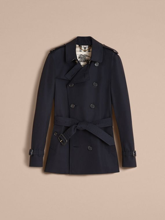 The Sandringham – Short Heritage Trench Coat in Navy - Men | Burberry - cell image 3
