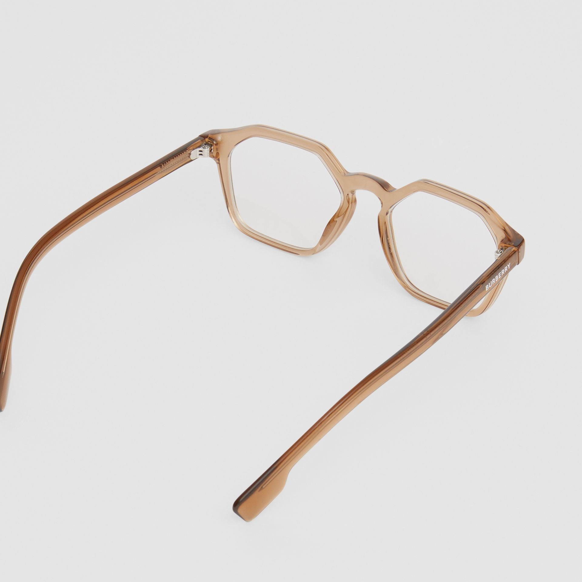 Geometric Optical Frames in Brown - Women | Burberry - gallery image 4