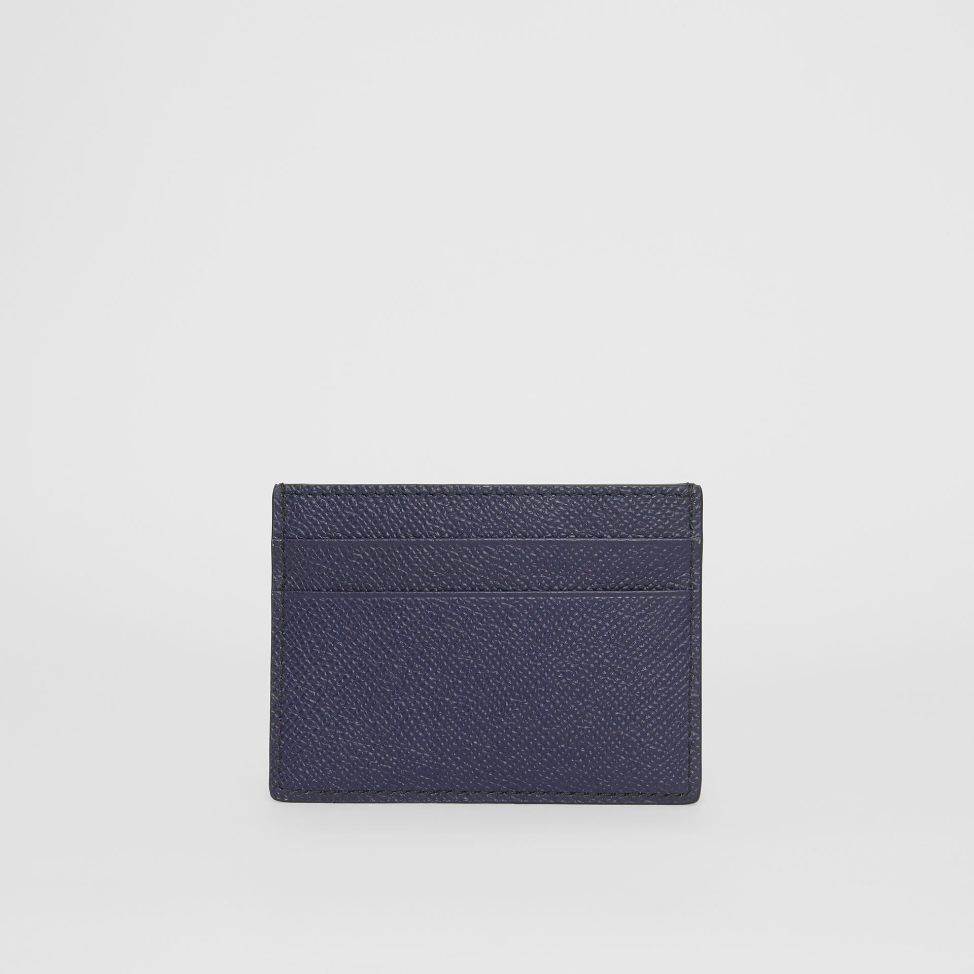 Grainy Leather Card Case in Regency Blue - Men | Burberry United States - gallery image 4