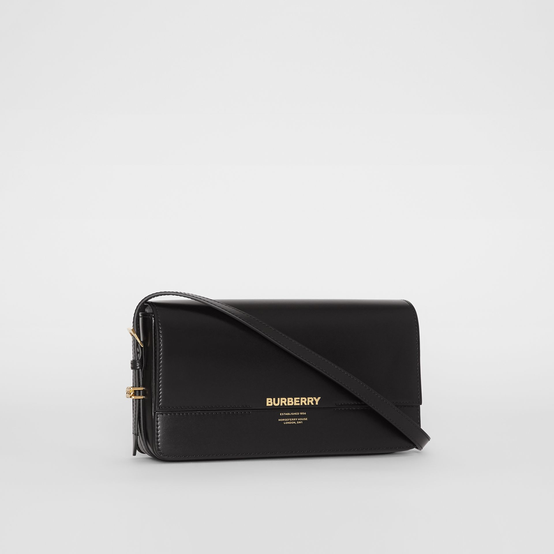 Mini Leather Grace Bag in Black - Women | Burberry - gallery image 6