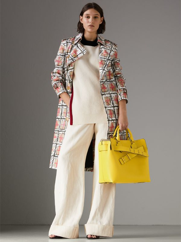 The Medium Leather Belt Bag in Bright Larch Yellow - Women | Burberry United States - cell image 2
