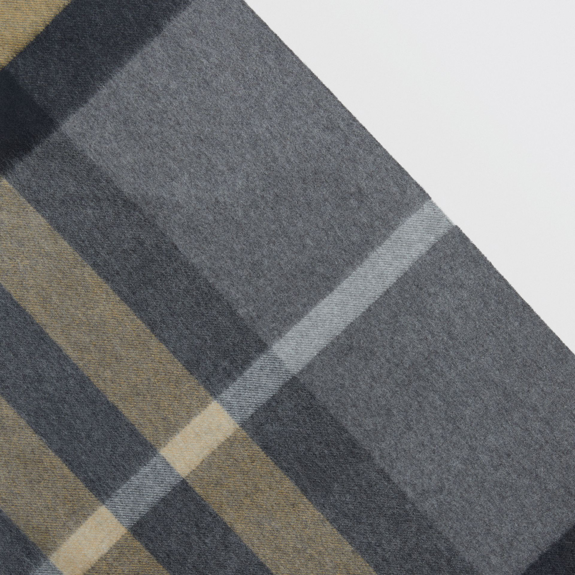 The Burberry Bandana in Check Cashmere in Mid Grey | Burberry Australia - gallery image 1