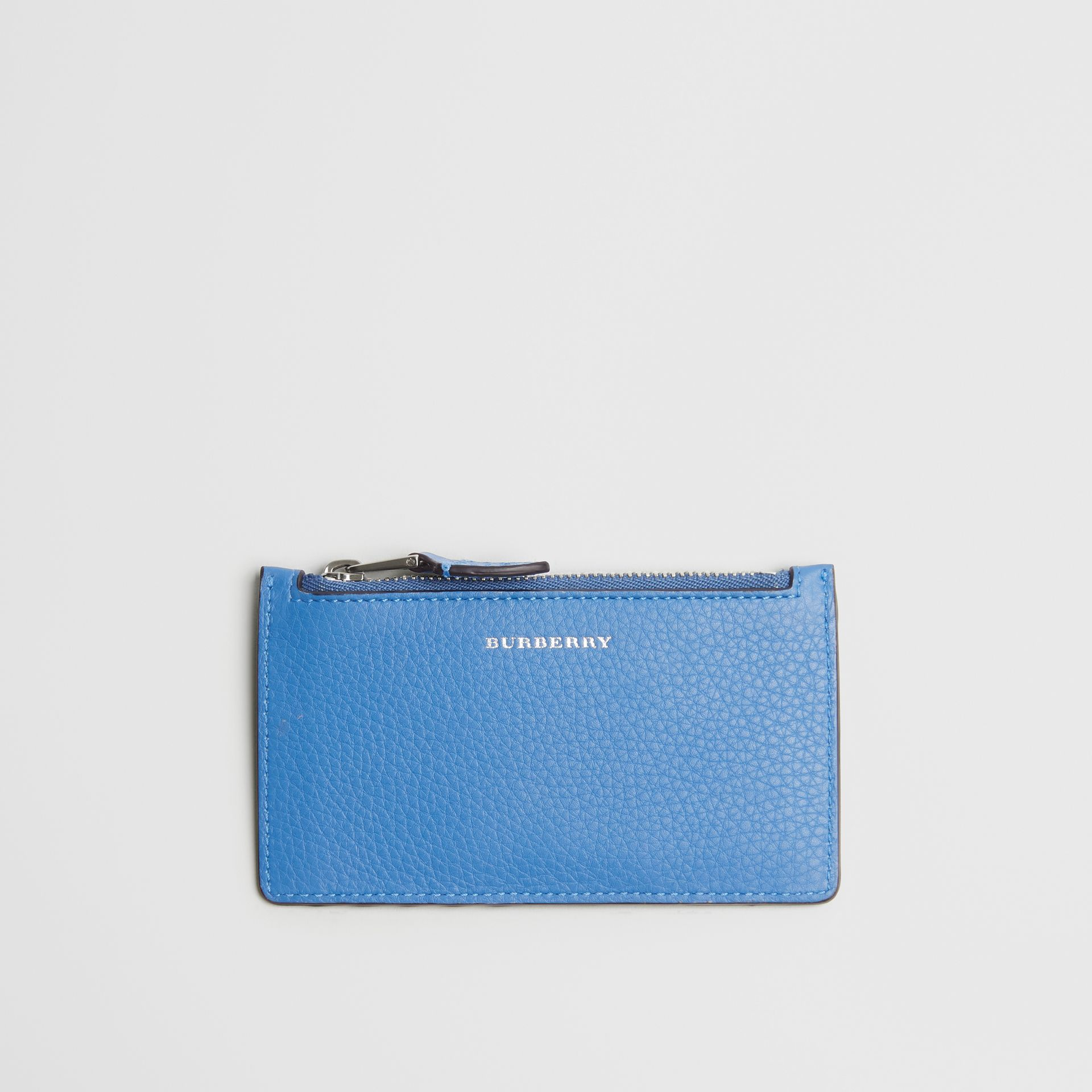Two-tone Leather Card Case in Hydrangea Blue - Women | Burberry - gallery image 0