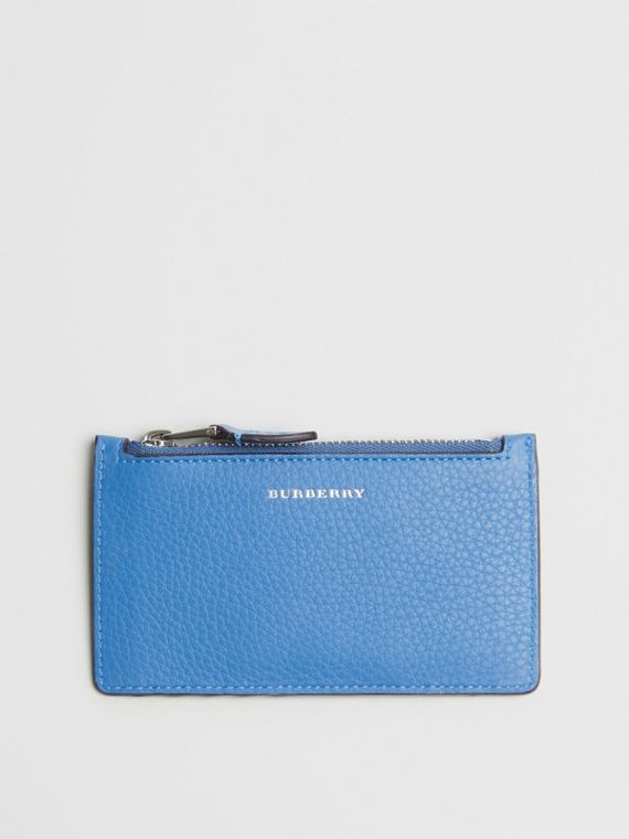 Two-tone Leather Card Case in Hydrangea Blue