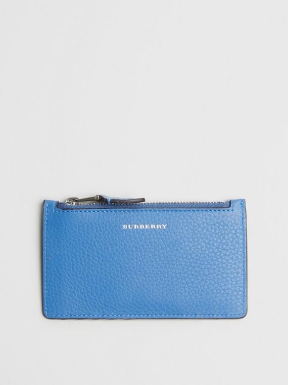 Kartenetui aus Leder in Zweitonoptik (Hortensienblau)