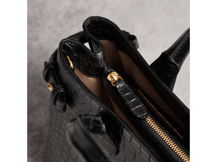 The Medium Banner in Alligator in Black - Women | Burberry United Kingdom - cell image 4