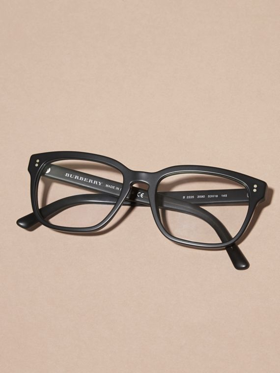 Black Square Optical Frames Black - cell image 3