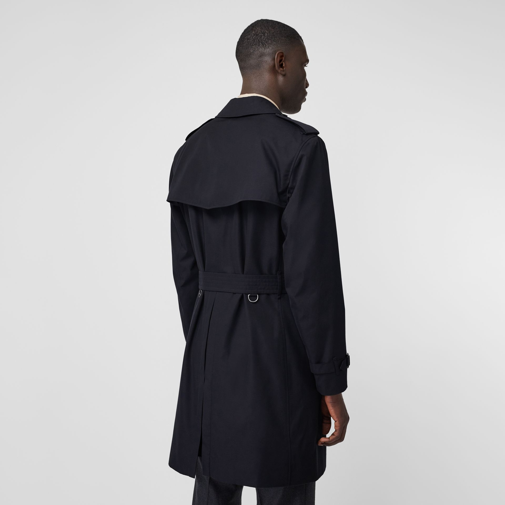 Cotton Gabardine Trench Coat in Midnight - Men | Burberry - gallery image 2