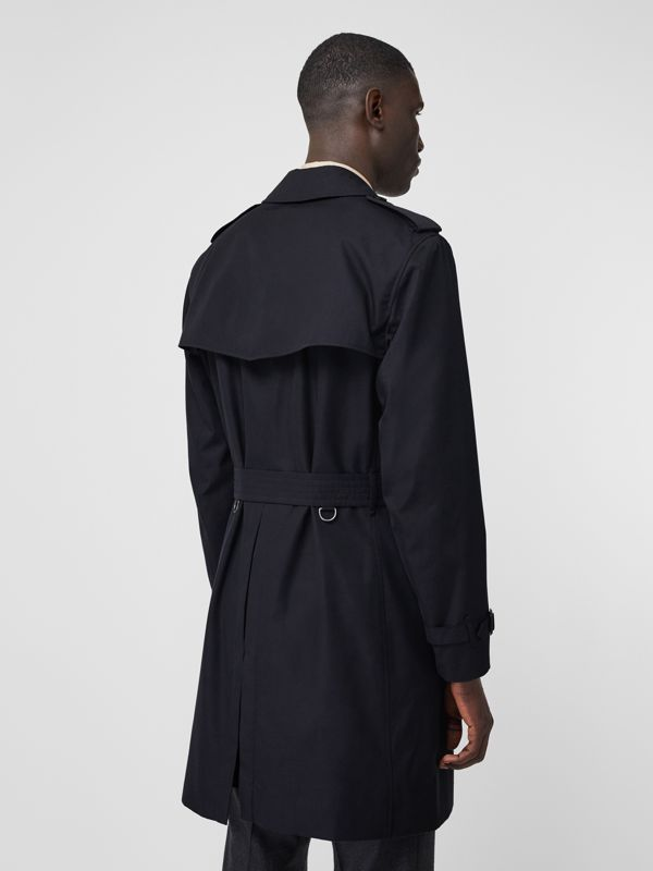 Cotton Gabardine Trench Coat in Midnight - Men | Burberry - cell image 2