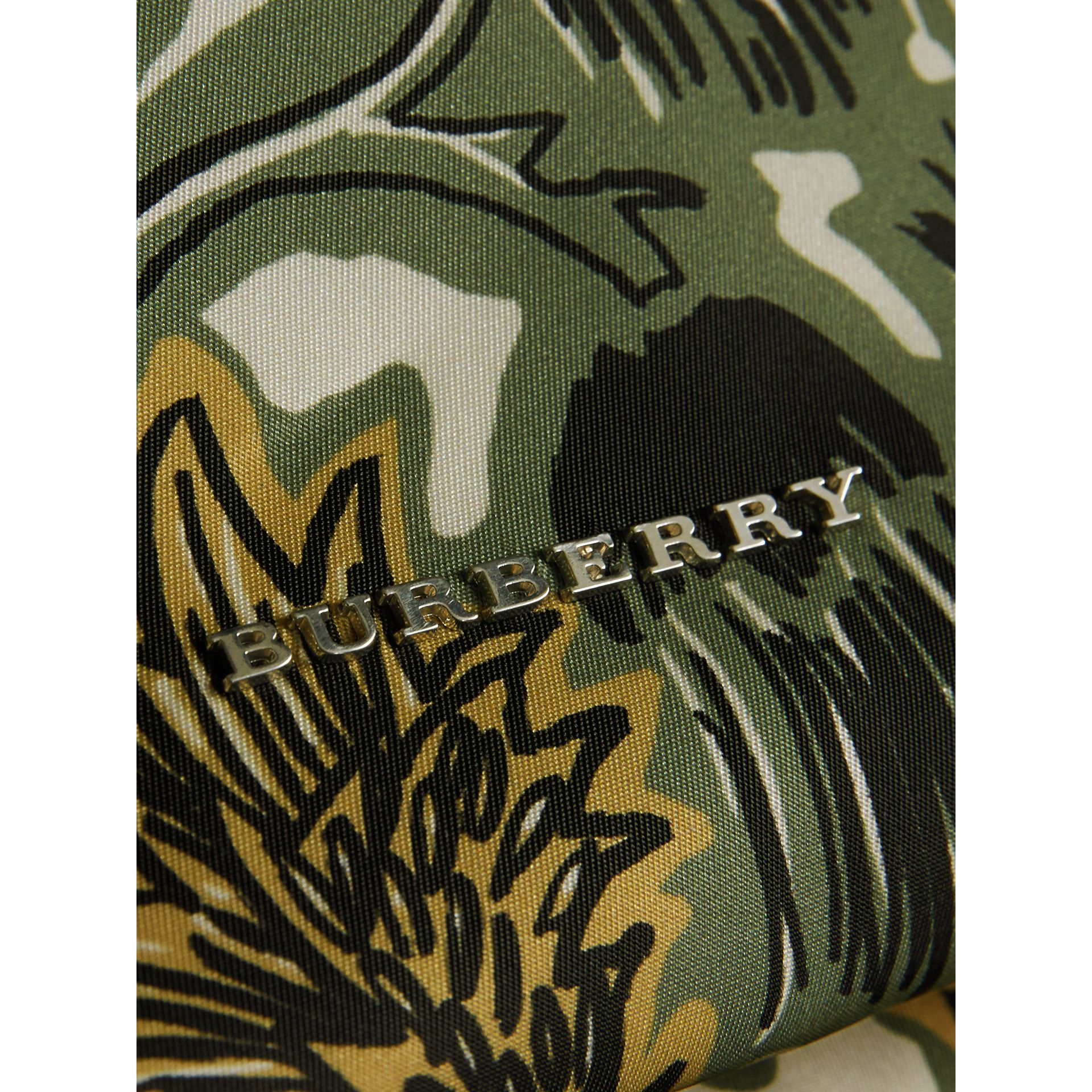 The Large Rucksack in Beasts Print Nylon and Leather in Sage Green - Men | Burberry - gallery image 2