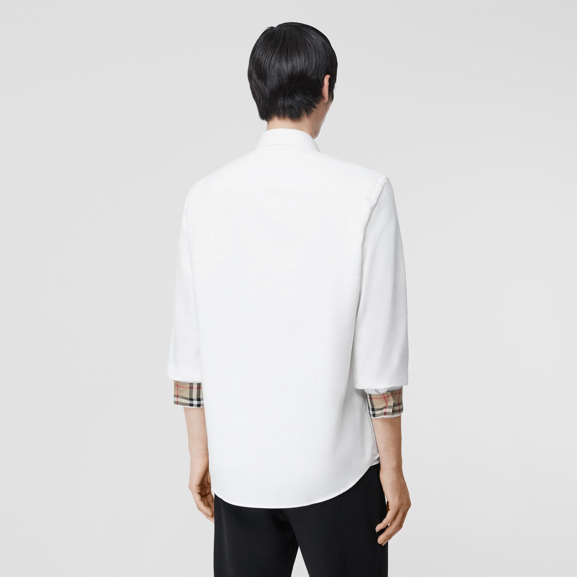 Monogram Motif Cotton Oxford Shirt in White - Men | Burberry Hong Kong S.A.R - gallery image 2