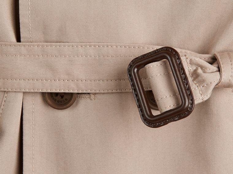 Hooded Cotton Twill Trench Coat in Taupe - Boy | Burberry Singapore - cell image 1
