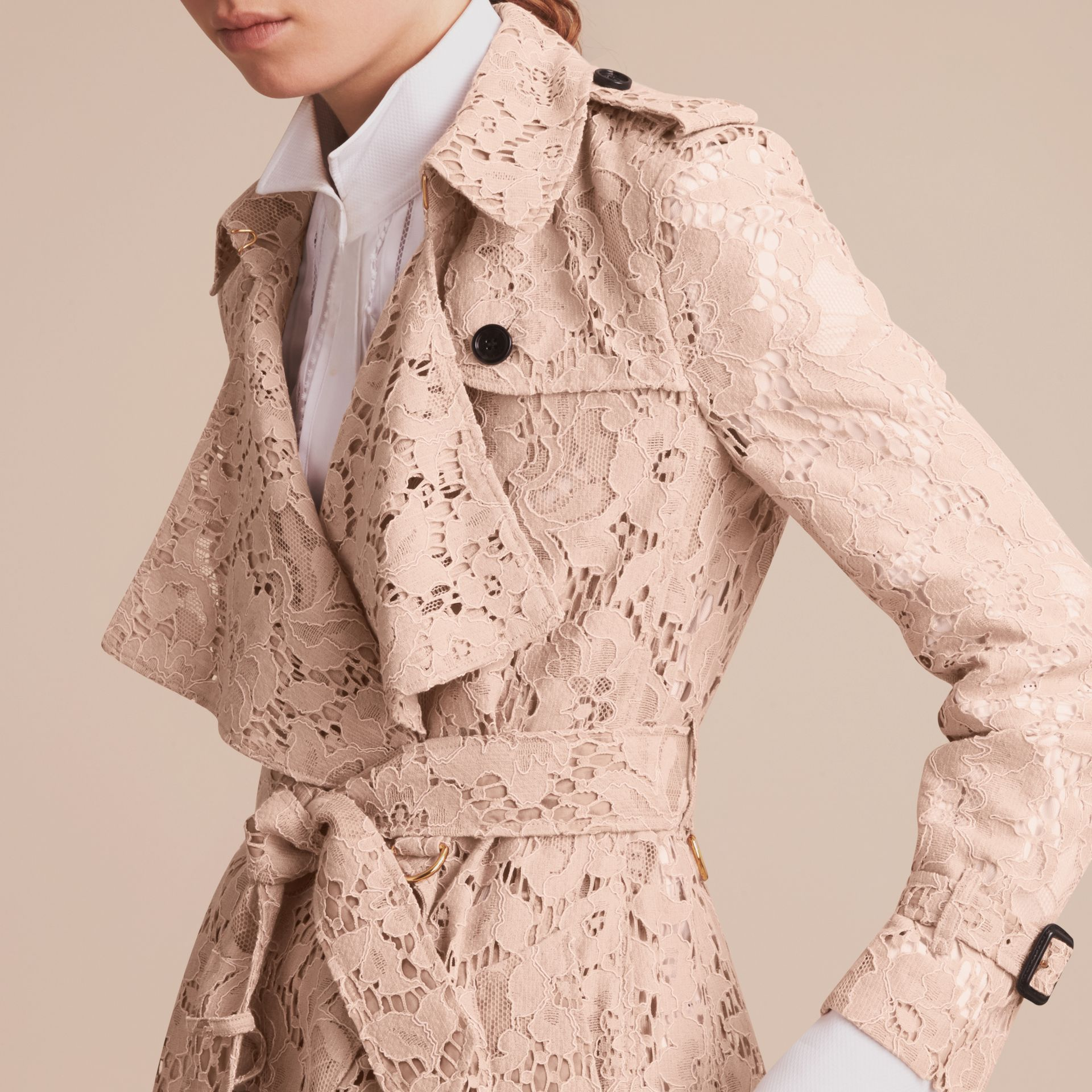 Macramé Lace Wrap Trench Coat - Women | Burberry - gallery image 5