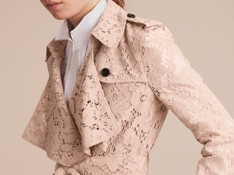 Macramé Lace Wrap Trench Coat - Women | Burberry - cell image 4