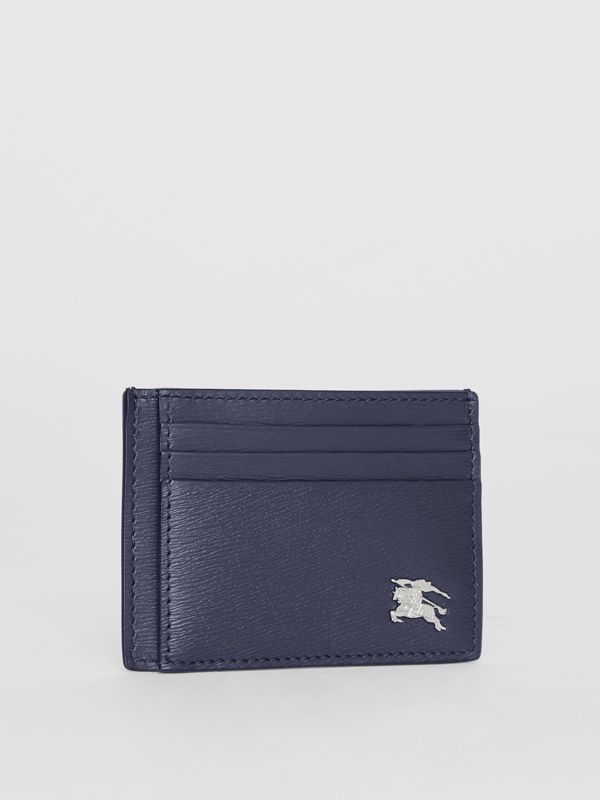 Grainy Leather Card Case in Navy - Men | Burberry Hong Kong - cell image 3
