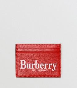 57cfcc1413f6 Porte-cartes en cuir avec logo imprimé (Rouge Rouille noir)